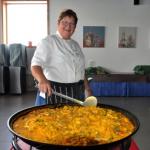 's Middags had Marcella een heerlijke Paella klaargemaakt, jongens dat was smullen hoor.